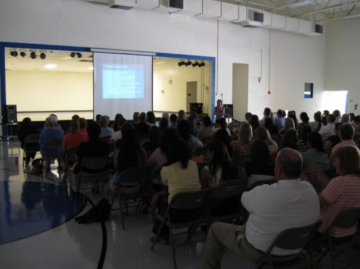 Barb Iversen, M.C., provides training on bullying and adolescent development to SCVUSD employees.